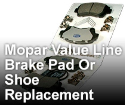 Mopar Value Line Brake Pad Or Shoe Replacement