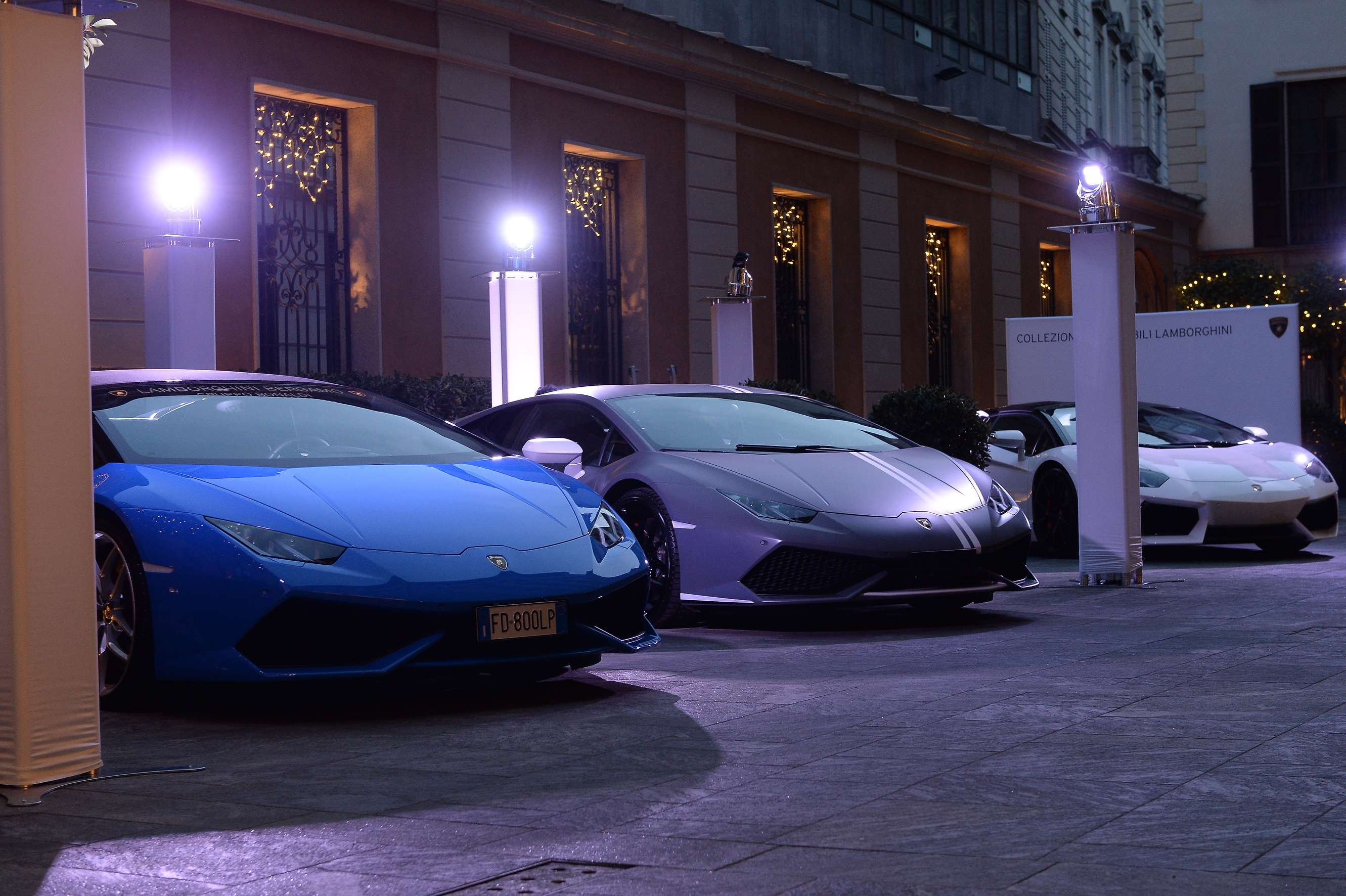 Collezione Automobili Lamborghini and L'Uomo Vogue together for a special event during Milan Men's Fashion Week