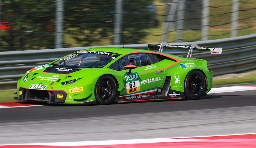 Lamborghini Huracan in the ADAC GT Masters