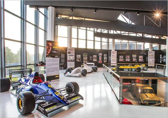 Ayrton Senna at the Lamborghini Museum