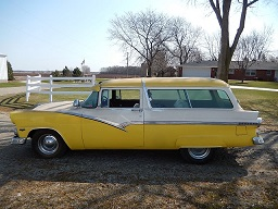 1955 Ford Station Wagon with Courier Door