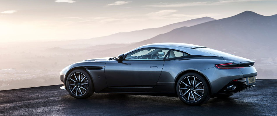 2017 Aston Martin DB11 Rear View Parked on Mountain Range