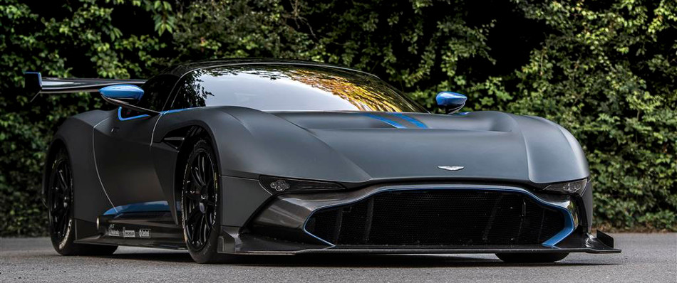 Aston Martin Vulcan Blue Trim Front View