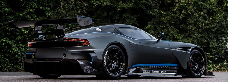 Aston Martin Vulcan Blue Trim Rear View