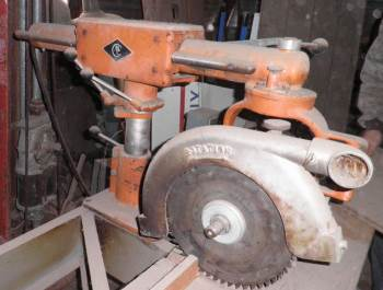 1950 CONSTRUCTION MACHINERY CO. 33 RADIAL ARM SAW-COMMERCIAL