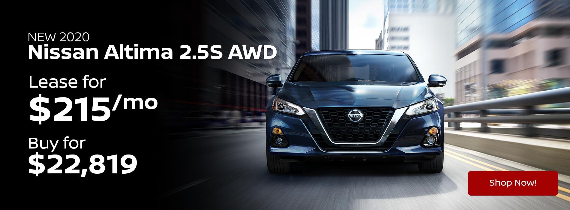 2020 Nissan Altima 2.5S AWD