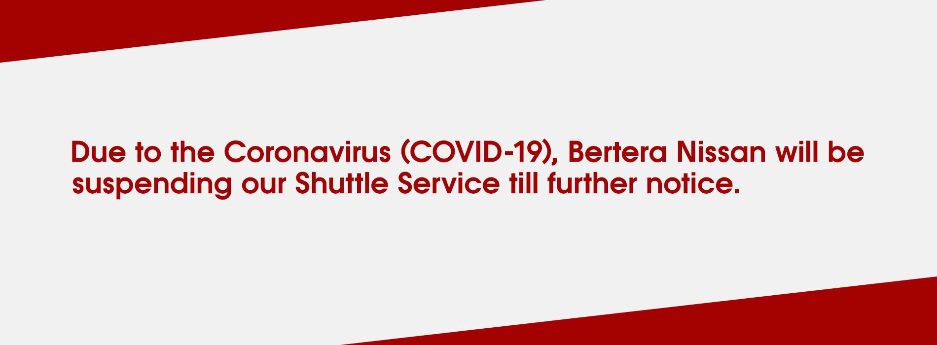Shuttle Suspended (COVID-19)