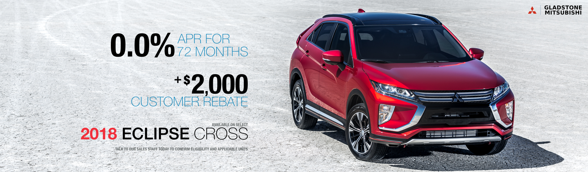 2018 Eclipse Cross Financing