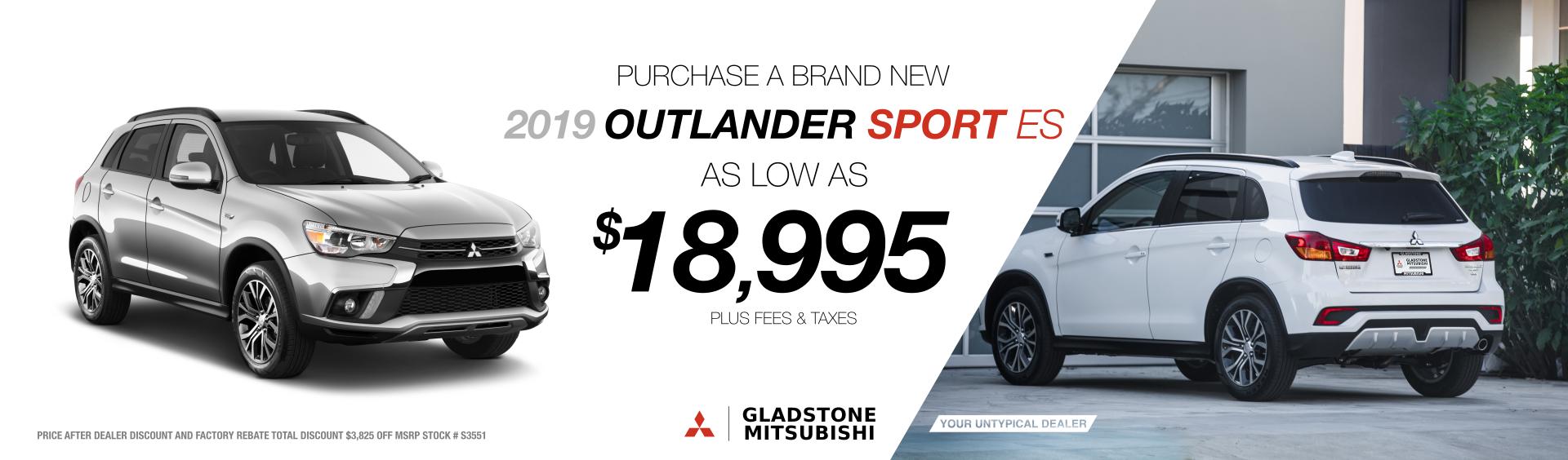 2019 Outlander Sport ES