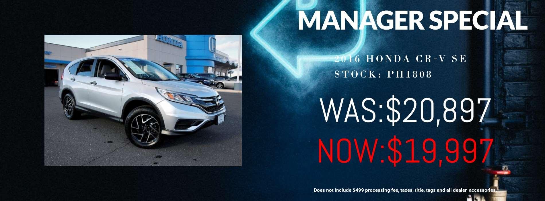 Honda CR-V Manager Special 03/23