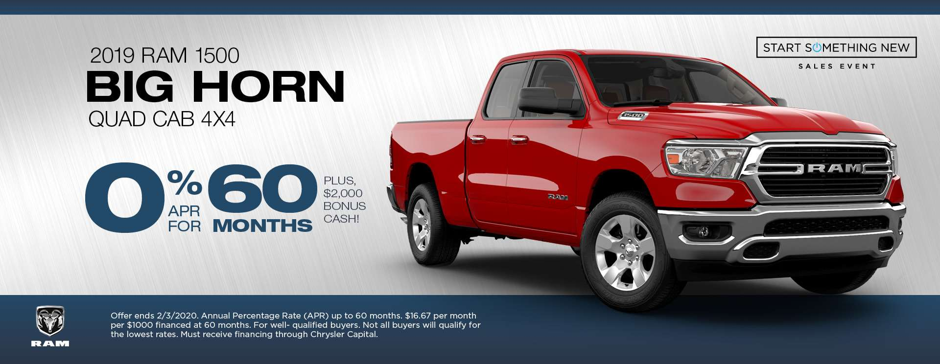 Ram 1500 Big Horn APR Offer