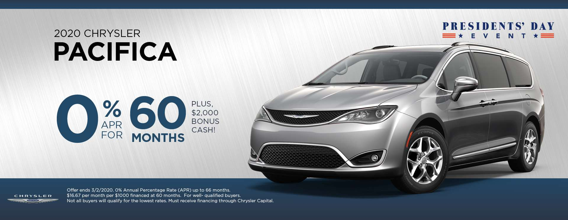 2020 Chrysler Pacifica - President's Day Event