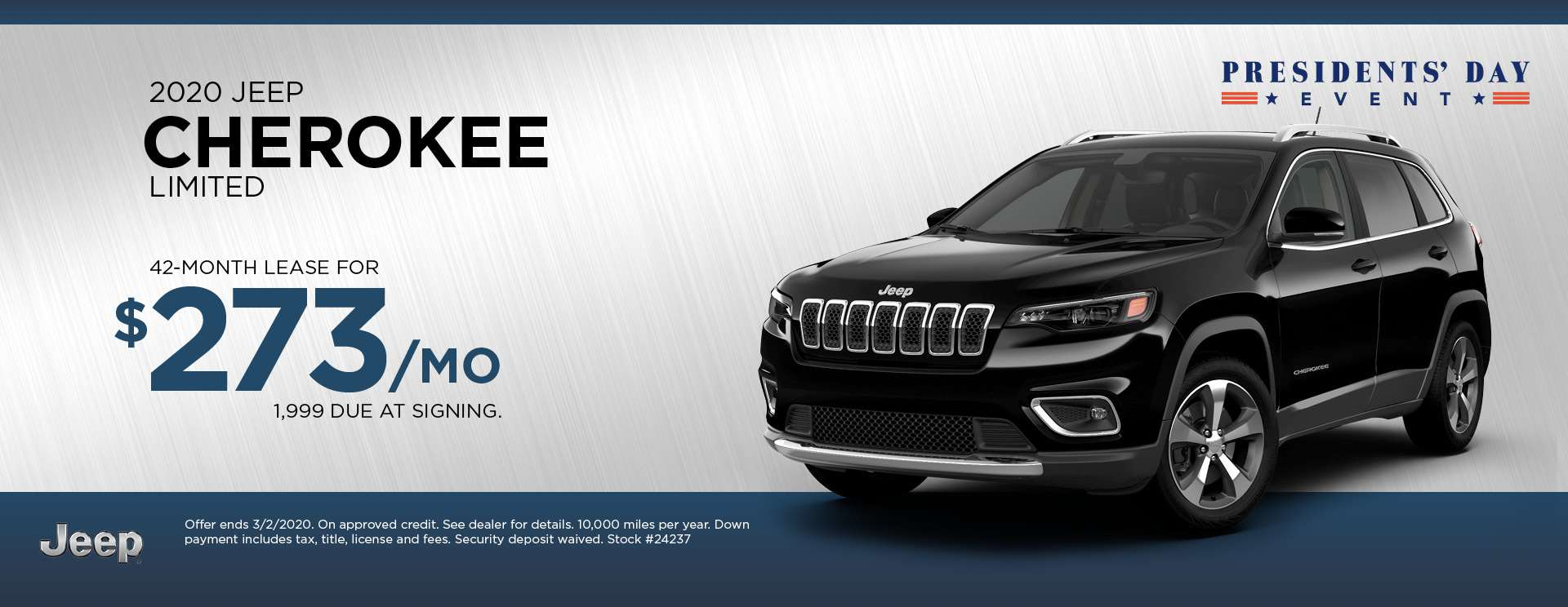 2020 Jeep Cherokee Limited - President's Day Event