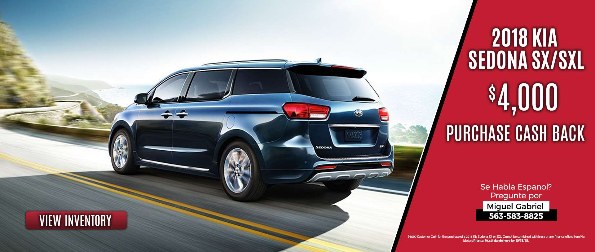Kia Sedona SX Offer