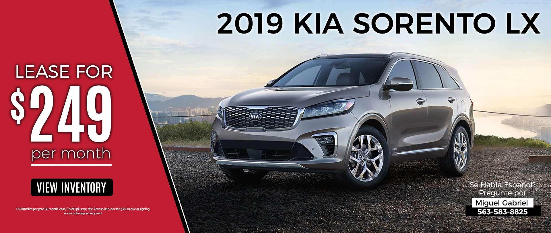 2019 Kia Sorento Lease Special Finnin KIA