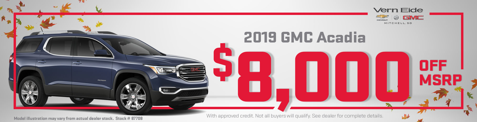 GMC Acadia 8k Off MSRP - October 2018