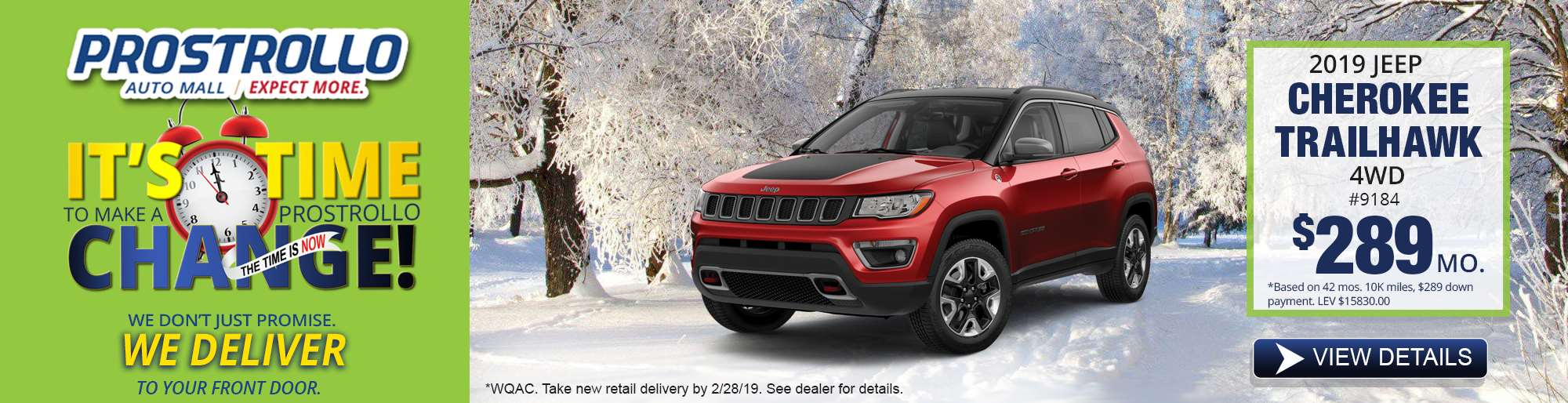 2. 2019 Jeep Cherokee Trailhawk