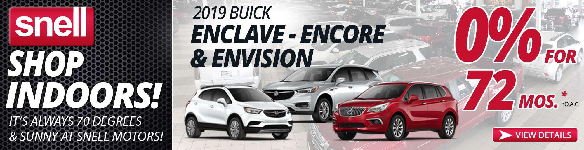 2019 Buick Encore, Enclave, Envision