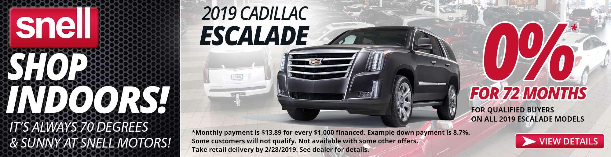 2.20 2019 Cadillac Escalade