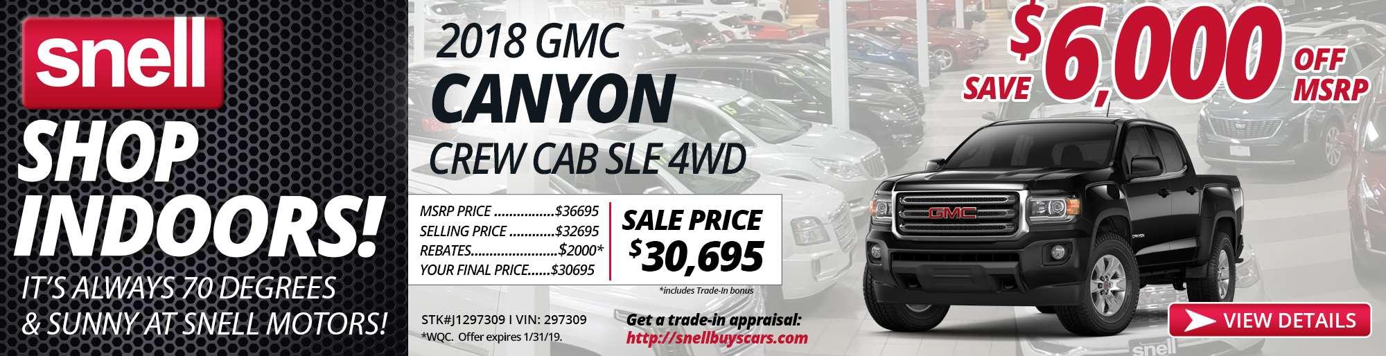 2018 GMC CANYON J1297309