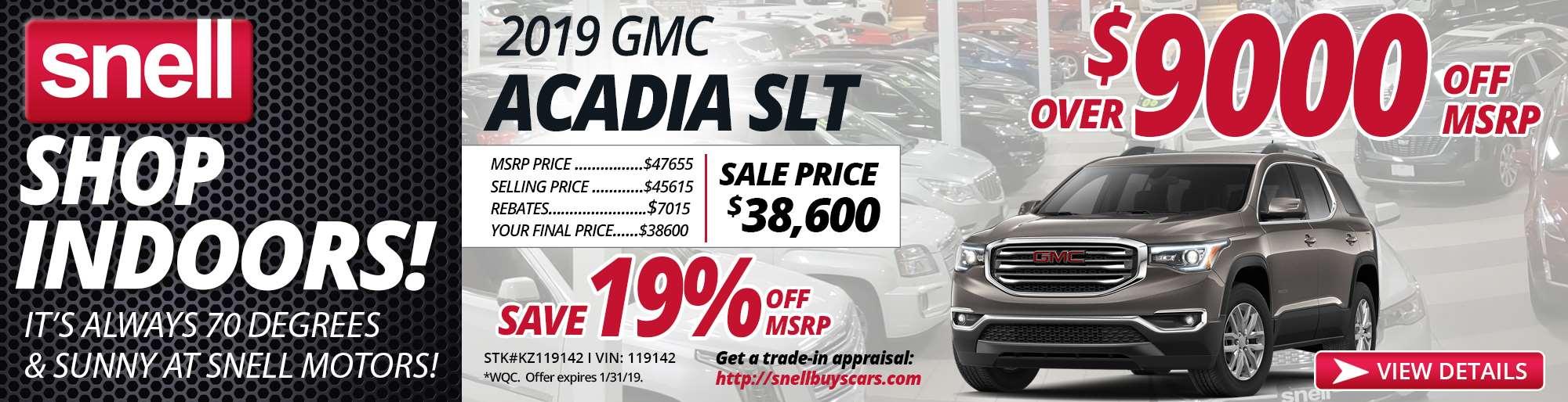 2019 GMC ACADIA SLT KZ119142