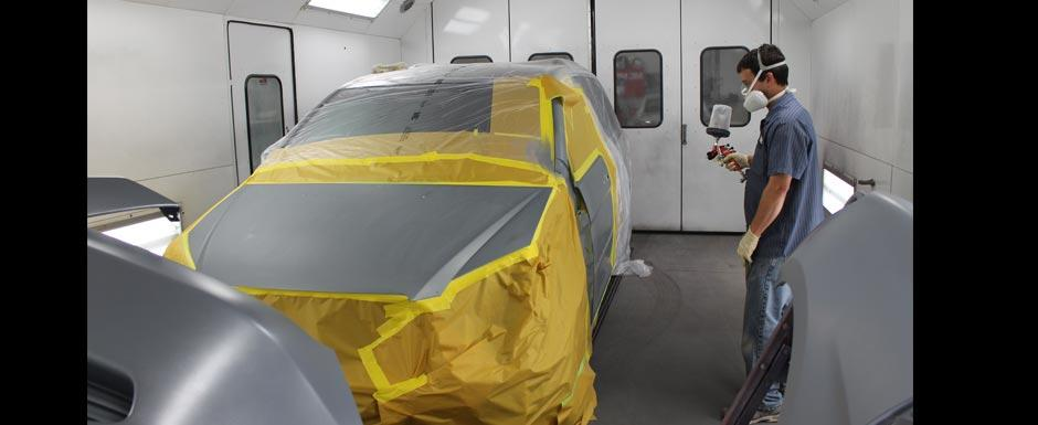 Paint Booth at Snell Motors
