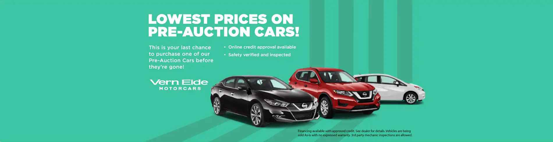 Lowest Prices on Pre-Auction Cars