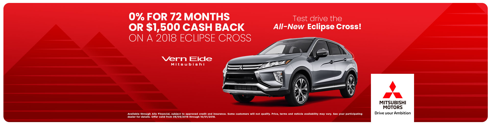 2018 Eclipse Cross - 0 for 72 - Sept 2018