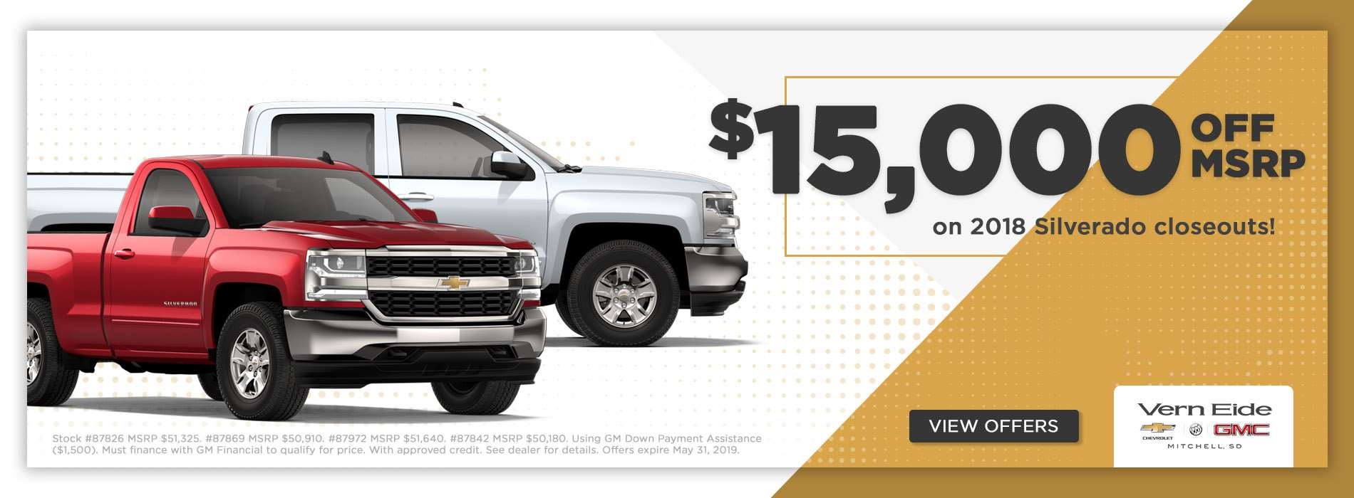 GM - $15k MSRP - May 2019