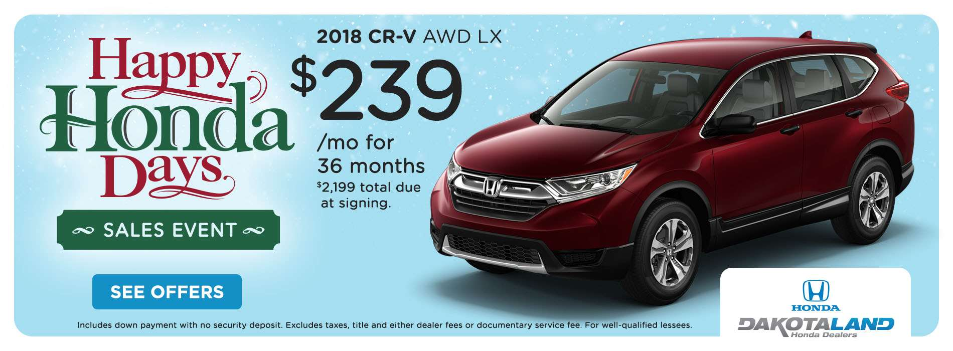 2018 CR-V Offer 2 - Nov-Dec 2018