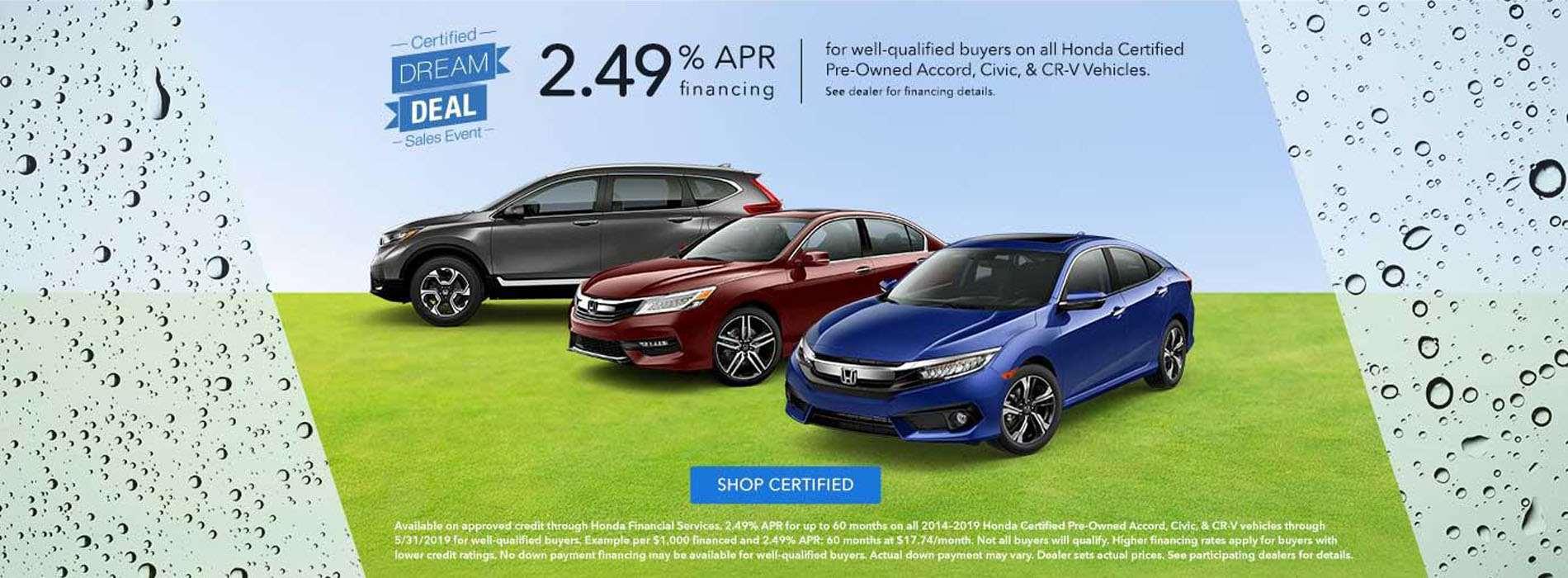 Honda - CPO Accord, Civic, CRV - May 2019