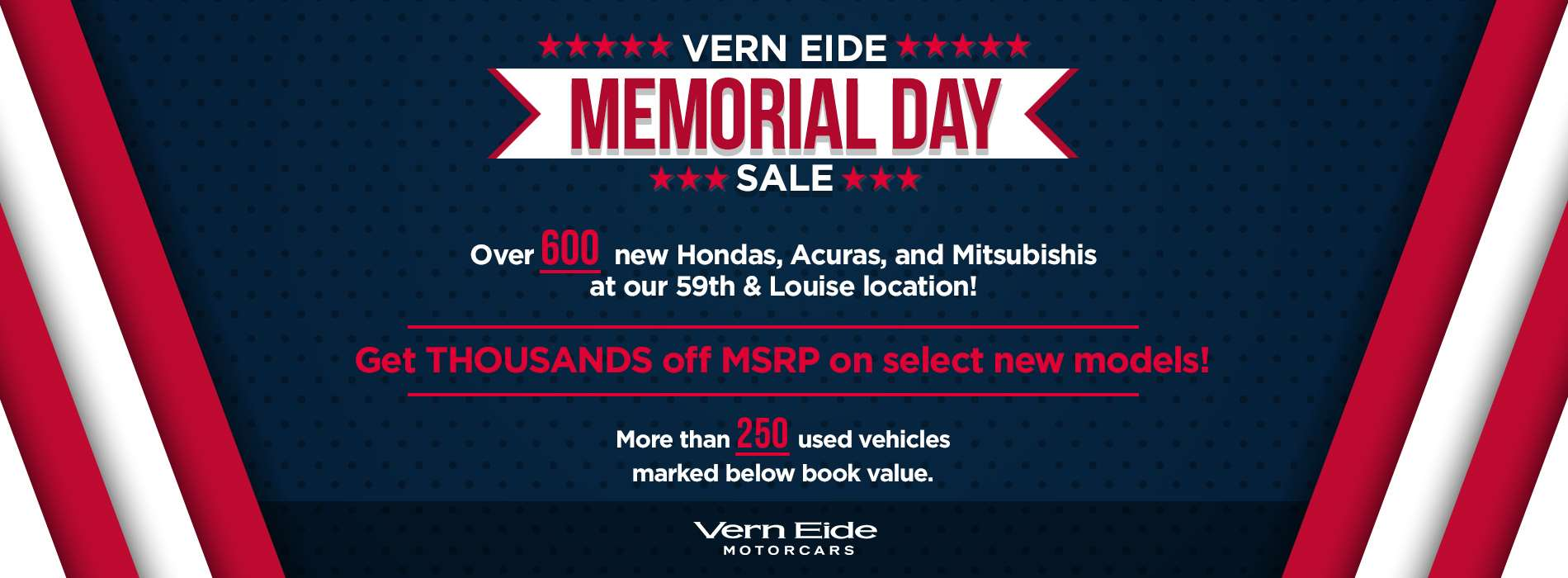 Motorcars - Memorial Day Sale - May 2019