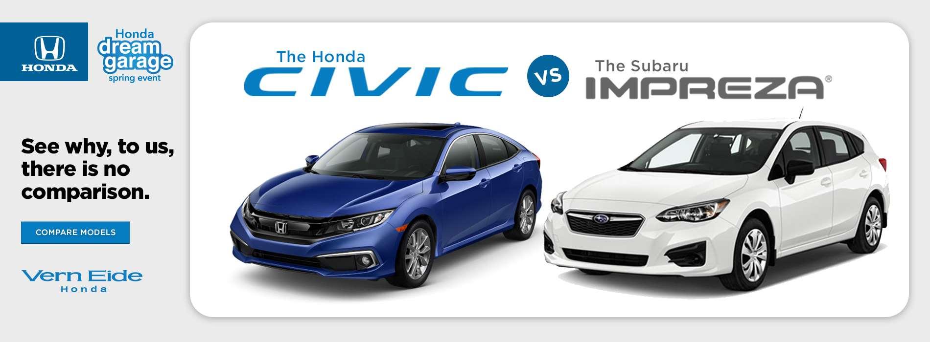 Honda - Civic vs Impreza - March 2019