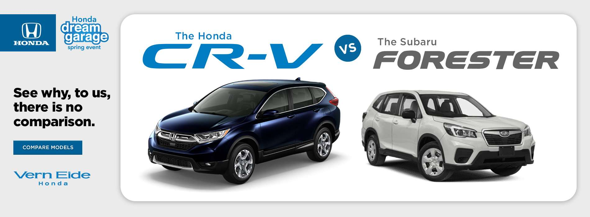 Honda - CR-V vs Forester - March 2019
