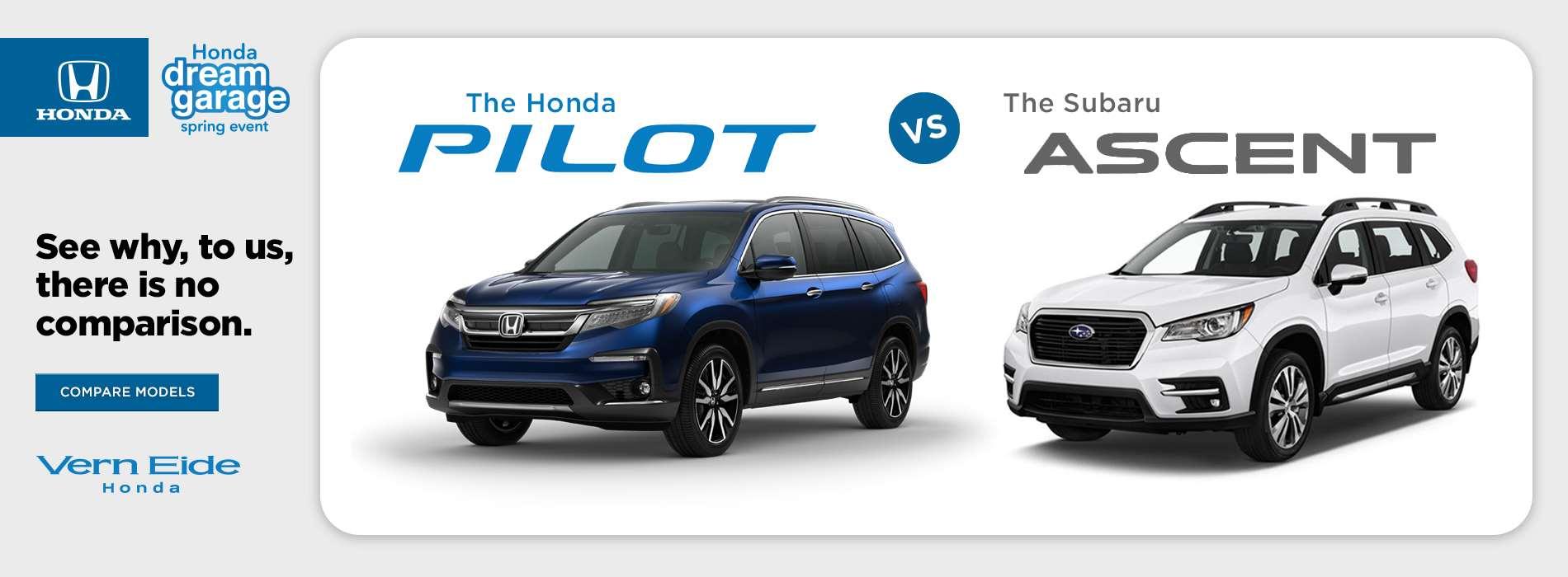 Honda - Pilot vs Ascent - March 2019