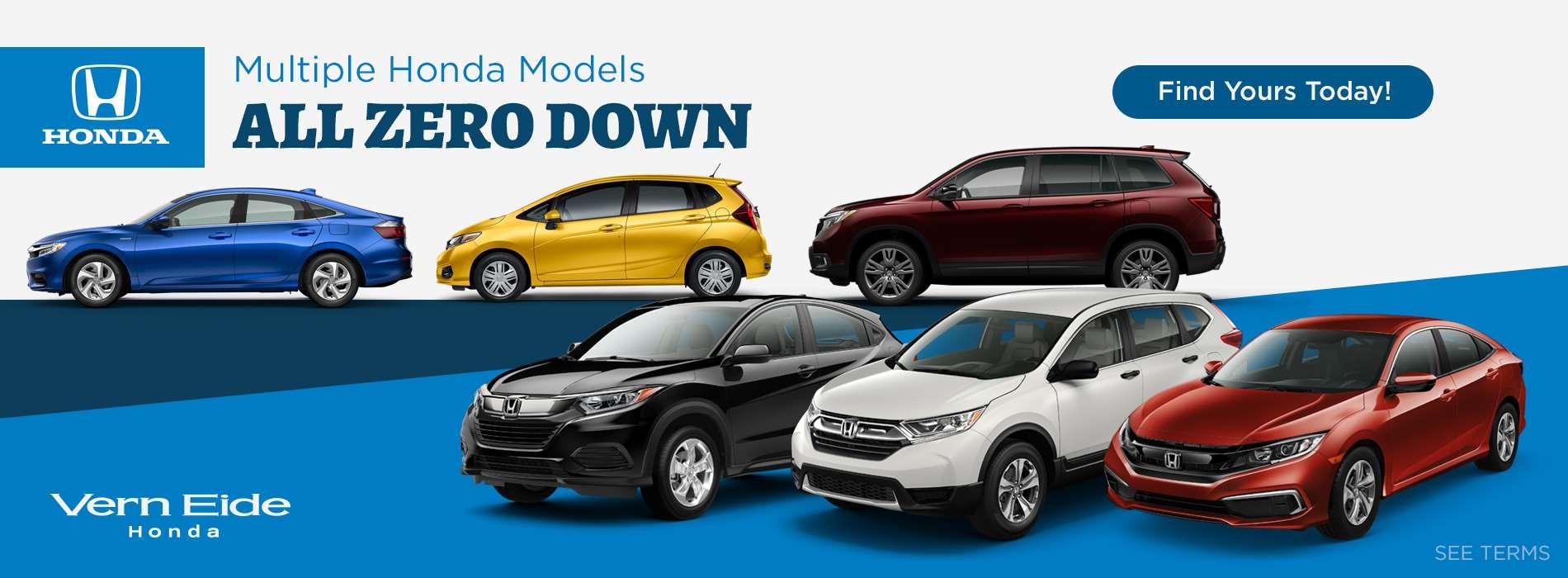 Honda - Zero Down - May 2019
