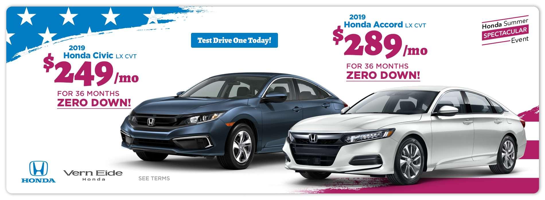 Honda - Sedans - July 2019