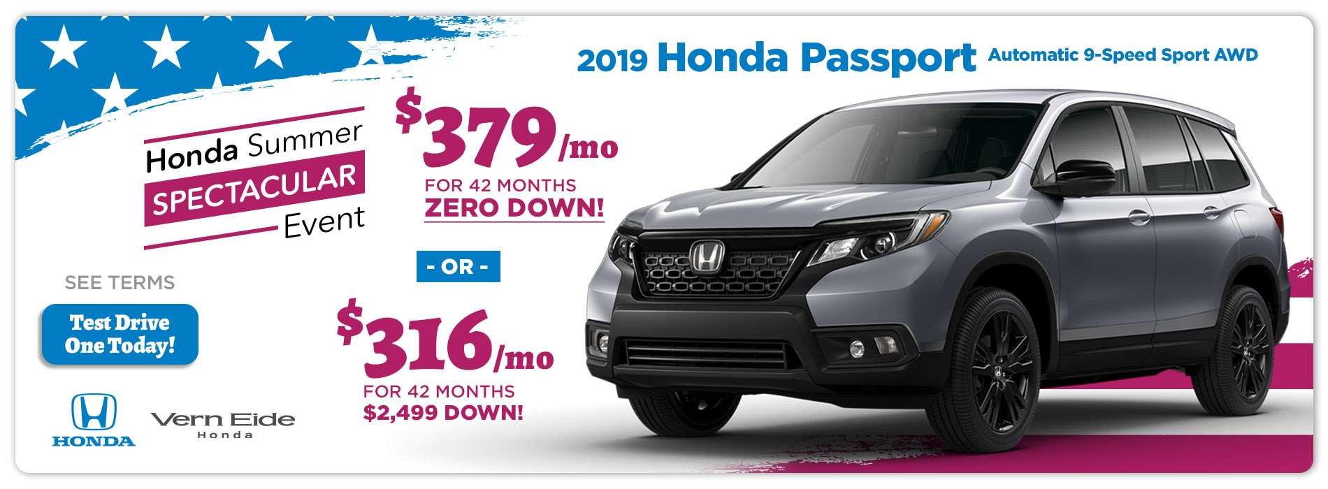 Honda - Passport - July 2019