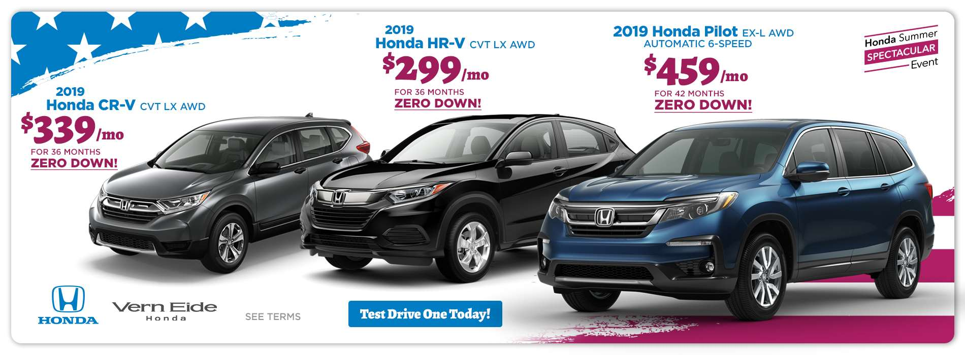 Honda - SUV - July 2019