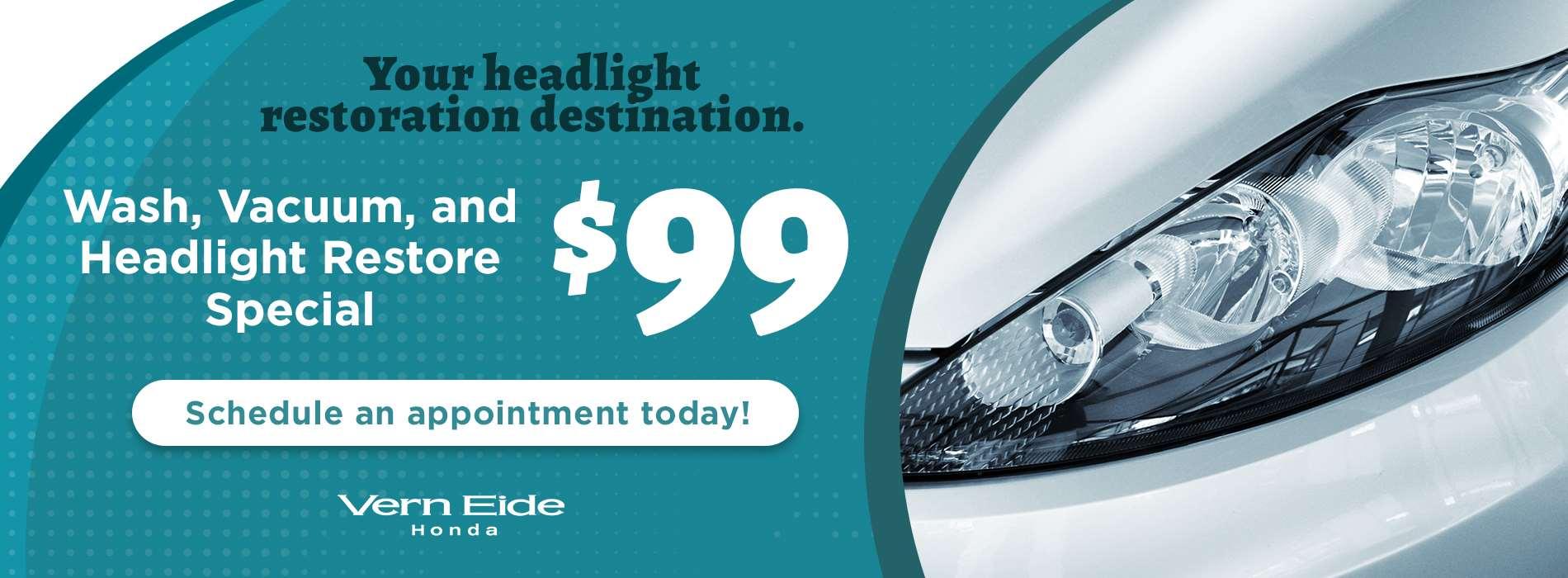 Honda - Wash-n-Vac Headlight - July 2019