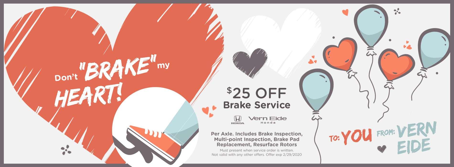 VHON - Brake Service - Feb 2020