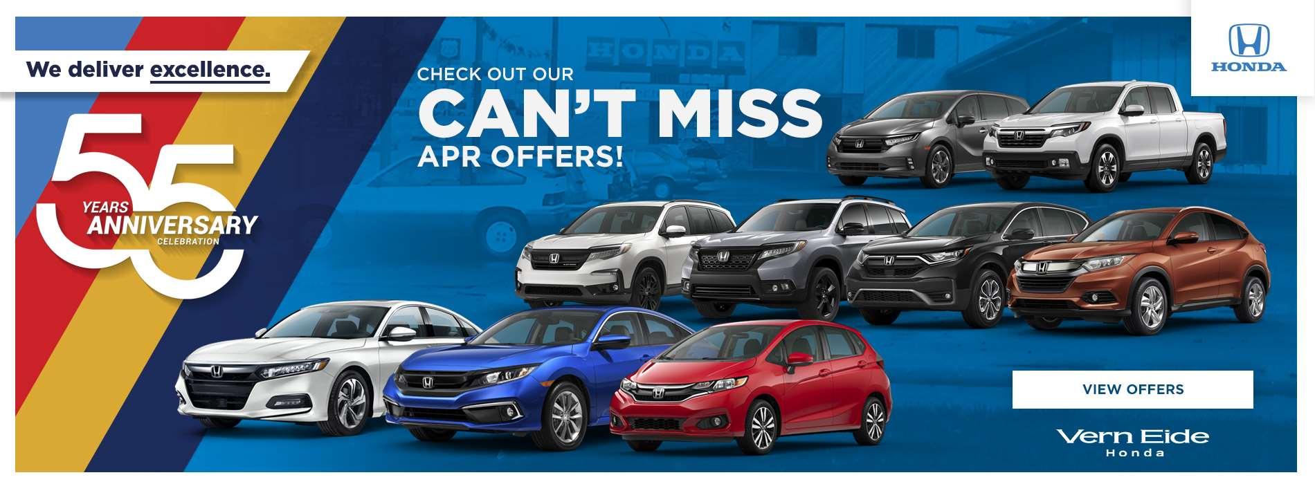VHON - Can't Miss APR Offers - October 2020