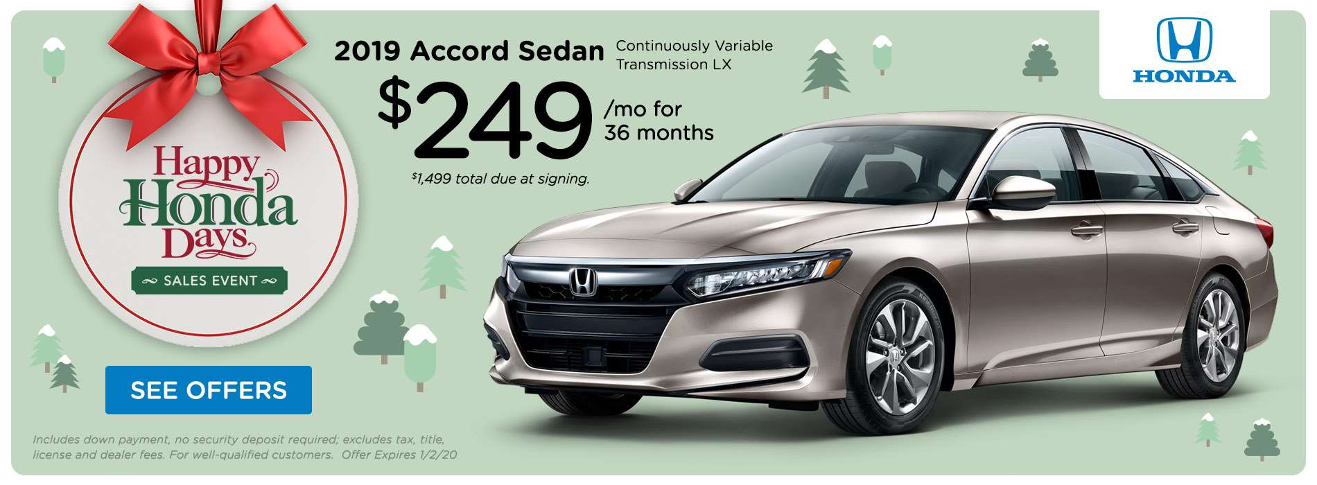 Honda Sioux City HHD 2019 Accord Offer