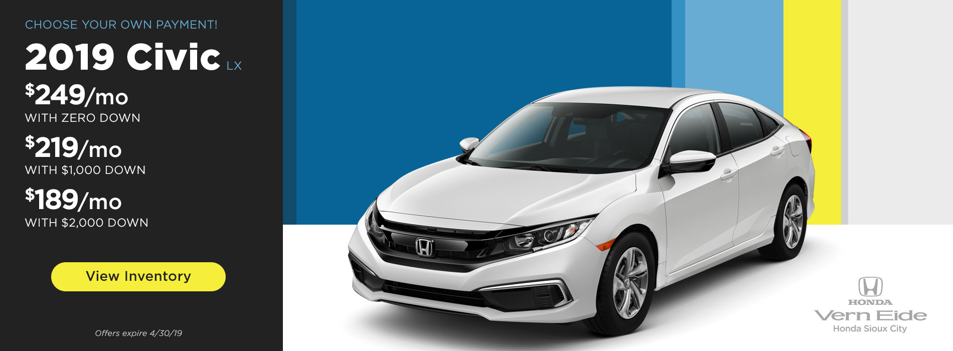 VE Honda Sioux City Civic - April 2019