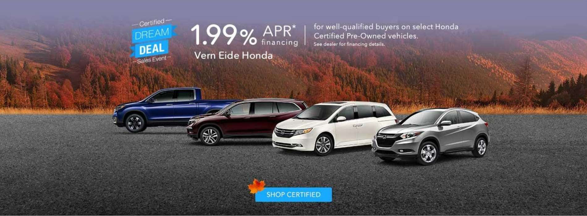 1.99 APR Certified Pre-Owned - October 2018