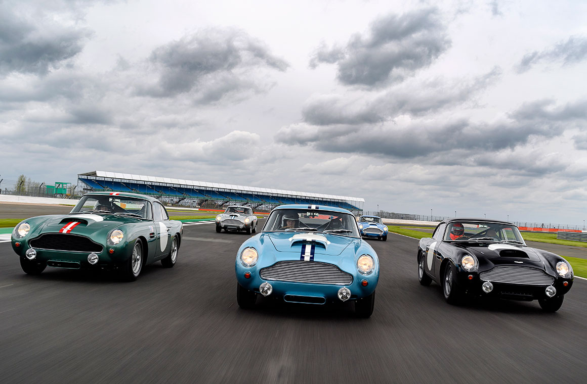 DB4 G.T. Continuation first customer track day-Silverstone