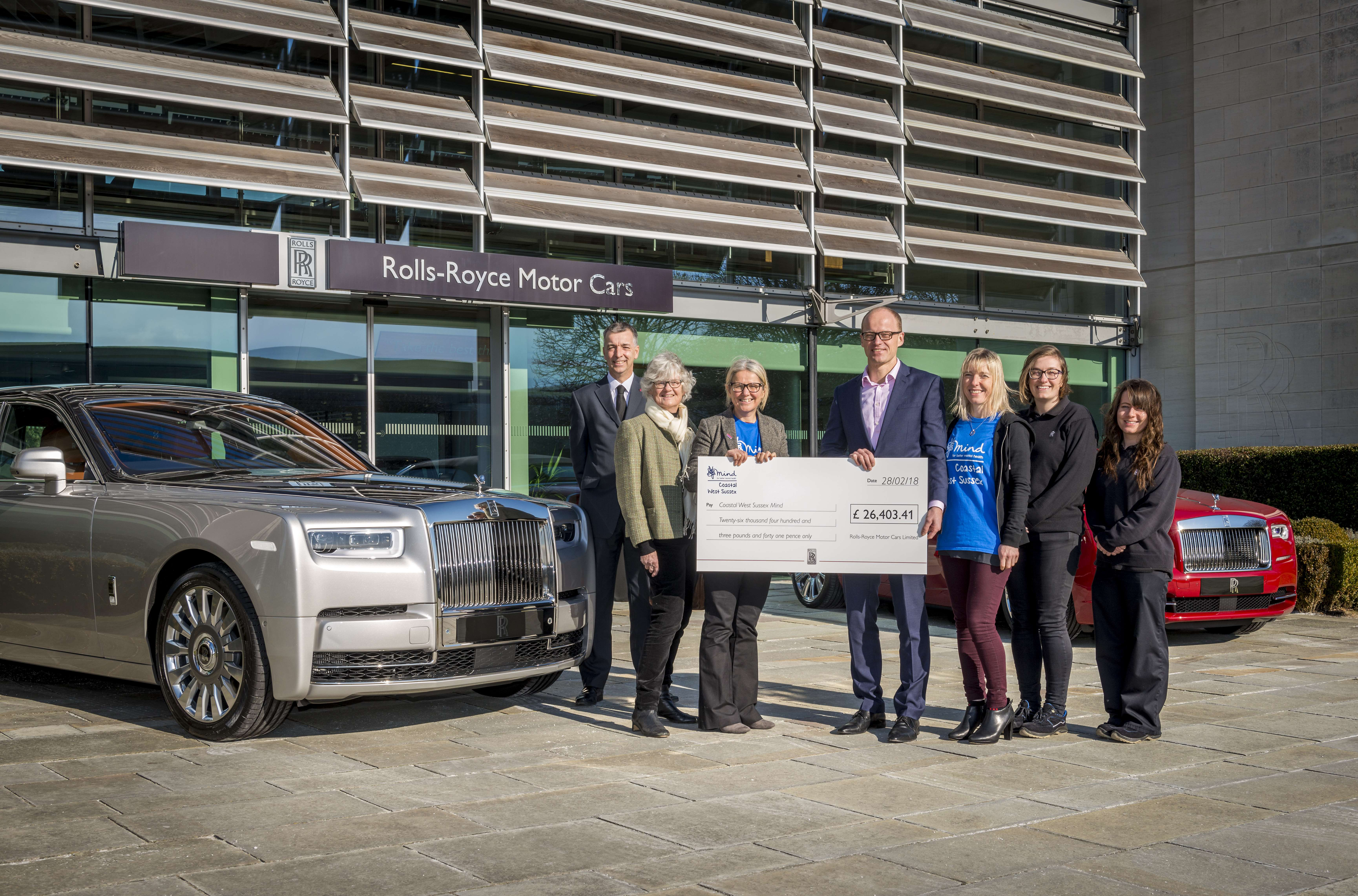 ROLLS-ROYCE MOTOR CARS CELEBRATES SUCCESSFUL YEAR OF FUNDRAISING FOR COASTAL WEST SUSSEX MIND