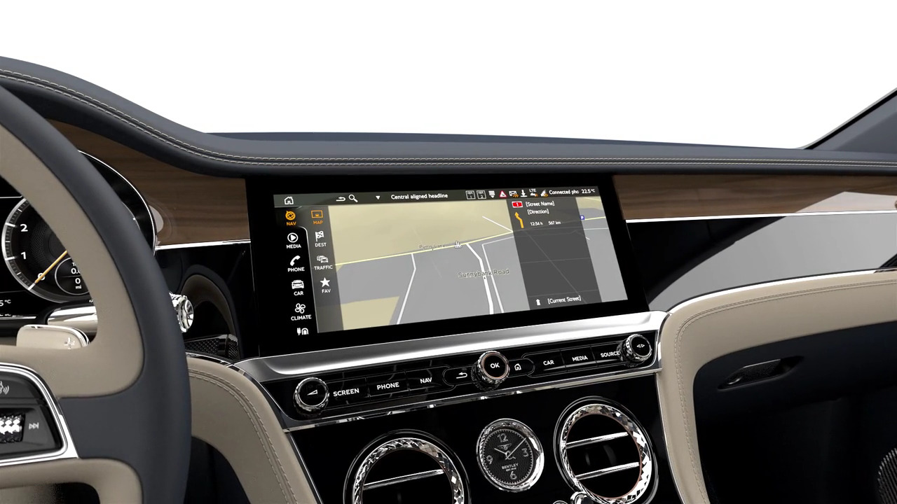 CONTINENTAL GT IN-CAR THEATRE