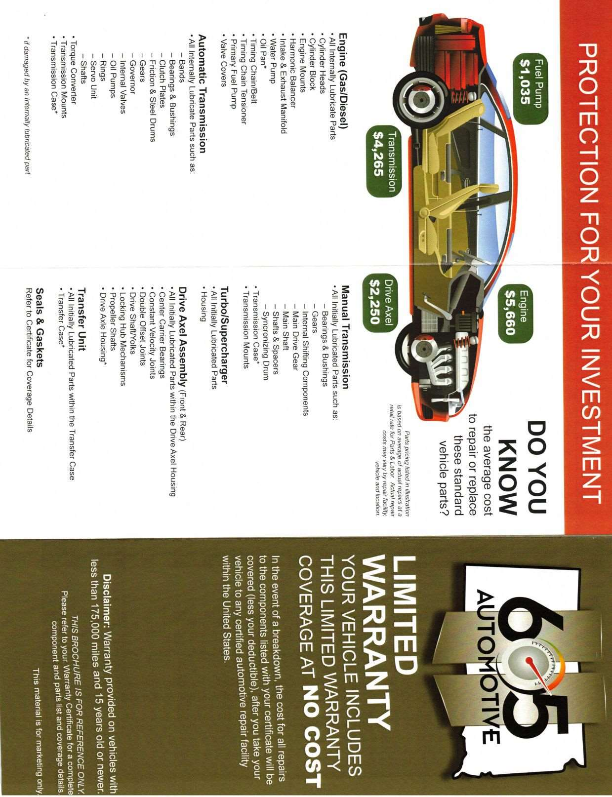 Warranty Info - 605 Automotive Sioux Falls,SD