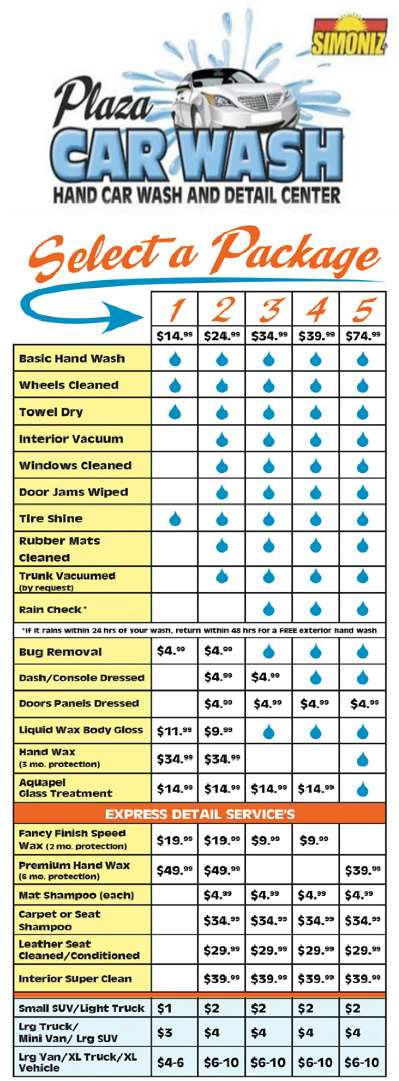 Car Wash Rates